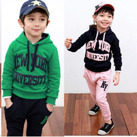 Retail, Children clothing Sport suit for winter Kids Clothes baby clothing new free shipping 015