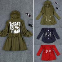 New Fashion 2014 Autumn Winter Clothing Slim Hooded Casual Women Jacket Long Sleeve Parka 3 Colors Women Coat