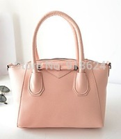 TFH Women's Bag 2014 New Fashion Lady Smile Handbag Bow Candy Color PU Handbag Casual Solid Shell Shoulder Bag Free Shipping