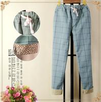 Autumn women's casual pants,drawstring linen pants,lady's trousers