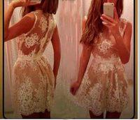 2014 new style summer dress casual white print o-neck sleeveless mini dress for women vestidos free shipping