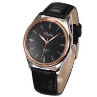 Dalas Luxury Brand Male Clock Alloy Case Relogios Masculinos Leather Strap Men Wristwatches Quartz Watches Fashion Casual Watch