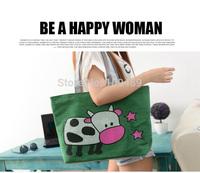 Free Shipping New Arrival High Quality Milk Cow Canvas Women's Handbag Messenger Bag, Shoulder Bag, Tote Bag