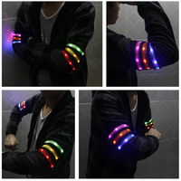 Cloth cover armband flash armband LED armband arm with hand band security