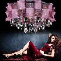 Bedroom crystal lamp ceiling light led lighting crystal lamp bedroom lamp romantic purple light crystal ceiling lamp