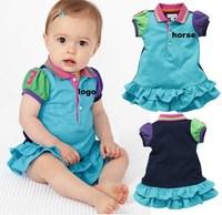 baby girl's dress summer  baby  BLUE brand horse  dress TUTU DRESSES
