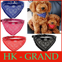 50pcs/lot hot sale! new Adjustable Bandana Collar for Dogs Puppy Pet Leather Collar Paisley Scarves Pet grooming Scarf