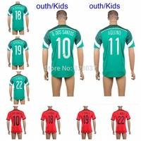 New Fashion Youth Kids G. Dos Santos Chicharito A.Guardado O.PERALTA Green Red Black R.Jimenez Marquez Jerseys Soccer Jersey