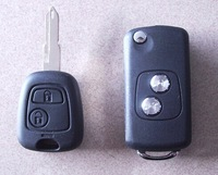 Peugeot  Modified  Flip Folding Key Shell 2 Buttons For Peugeot 206 Replacement Key Case