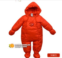 Free shipping Winter children's clothing baby upset down jacket out baby clothes,kids jumpsuit down romper