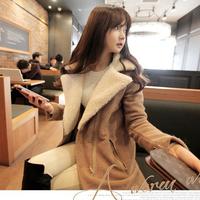women winter woolen outerwear female woolen outerwear berber fleece coat