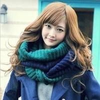 2014 New Fashion Korean autumn winter scarf women Warm Knit Neck Circle Wool Blend Cowl Snood Ring Scarves Long Scarf Shawl Wrap