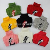 New Unisex winter autumn infant baby Cartoon sweater boy girl child sweater baby turtleneck sweater children outerwear sweater