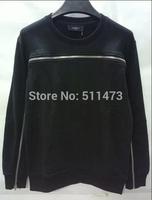 Rare new 2014 european hip hop GIV GVC Front zipper pullover sweatshirt in black free shipping