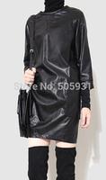 PU Leather Dress Pocket Simple Cool Multi Ways Wearing