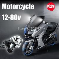 12/24/36/48/60/80v Wide Voltage Cree U5 Led Motorbike light 30W IP68 Waterproof Motorcycle Driving Spot Head Fog Flash Day light