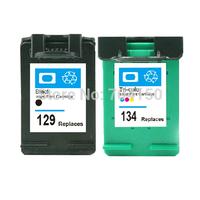 Compatible Ink Cartridges For HP 129 Black & 134 Color Cartridge for HP DESKJET 6940/5943/5940/6943/6983/5940/D4145/D4155/D4160
