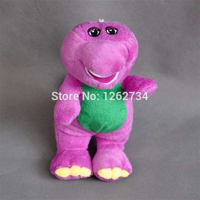 "Free Shipping Cute Barney Plush Doll Cartoon Characters 7""(China (Mainland))"