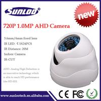 New Products 720P AHD camera 1.0Megapixel AHD camera Indoor AHD camera