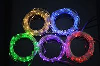 9 Colors 5M 50Leds Copper Wire Waterproof LED String Light Starry Lights, Includes Power Adapter (UK,US,EU,AU Plug Optional)