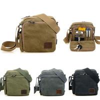 NEW Arrival Men Handbag Shoulder Bag Men's Messenger Canvas Bags Black / Kahaki / Green / Gray Color