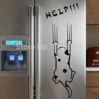 A3 Free shipping Refrigerator/Fridge/Art Wall Stickers / Wall Decals /House decoration help cute DIY sticker dog/cat  T1244 P