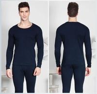 Free transport cotton thermal underwear sets men's skin-type high stretch cotton round neck thermal underwear sets