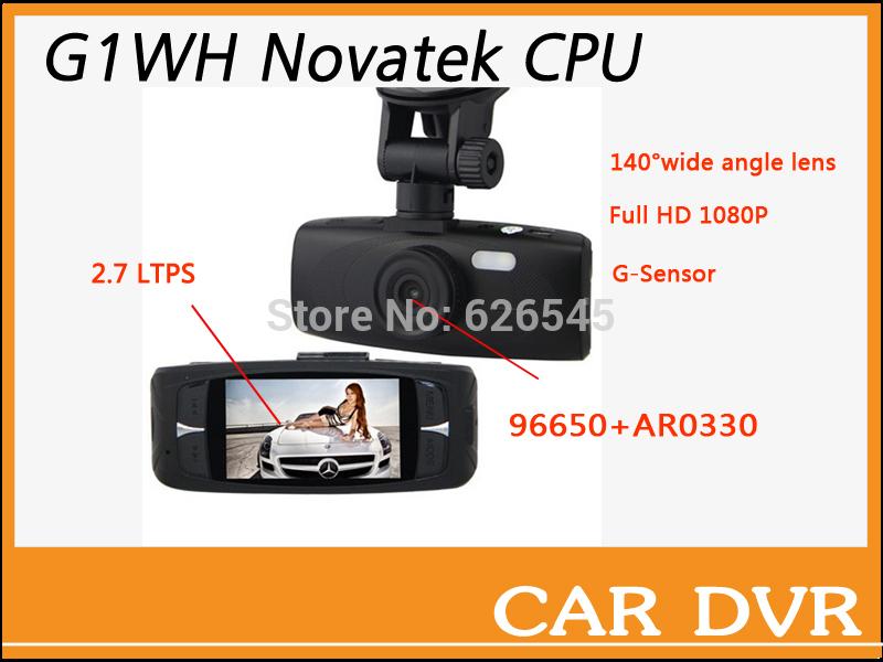 "Free shipping G1WH Novatak 96650 1080P Full HD Car DVR Camera Recorder 2.7"" LCD Car DVR Recorder IR Night Vision mini car dvr(China (Mainland))"