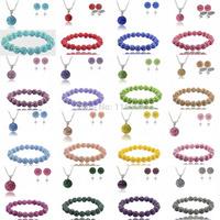 Fashion Elastic Stretch 10mm 20pcs Crystal Shamballa Set Crystal Pendant/Bracelet/Crystal Earring Jewelry Set With Disco Balls