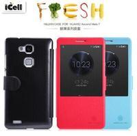 Original Nillkin Fresh Series Auto Sleep Wake Up Flip Leather Case For Huawei Ascend Mate 7 ,+Retail Box 10pcs/lot Free shipping