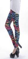 2014 Bandage Women Summer Pattern Sexy Vitange Zebra Printing Leggings Fashion spandex Pants Free Shipping