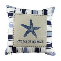 New wholesale marine series Pillow Custom cotton sofa pillow automobile cushion cover X052