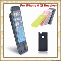 Qi Wireless Charging Receiver Case for iPhone 6 4.7 inch Qi Wireless Charger TPU Cover Card Coil Accept