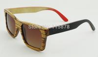 Custom Design Handmade Wood Sunglasses Zebra Wood Frame With Skateboard Wood Sunglasses 6095