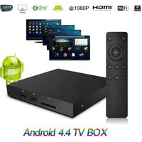 Android 4.4 Smart TV Box Mali-450 GPU 1G 8G Wifi Bluetooth4.0 DLAN Miracast XBMC Set Top Box Media Player Quad Core