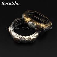 Fashion Accessories Charm Design Charm Bracelets Retro Alloy Elastic Vintage Bangles Indian Jewelry For Women Dress BL251