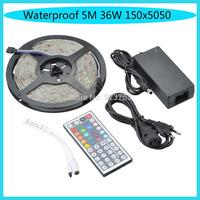 Waterproof 5M 36W 150x5050 SMD RGB Light LED Strip Light Kits(DC 12V )