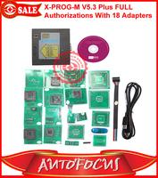 New X PROG-M Latest V5.0 V5.1 V5.3 Plus Auto Programmer Full Authorizations With 18 Adapters + USB Dongle + Free Testing ECU IC