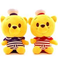 Bear plush toys 7 inch cute cartoon winnie the pooh bear doll  navy wedding gift