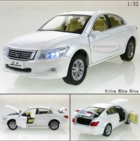 New 1:32 Honda Accord Alloy Diecast Model Car Toys Vehicle gift With Sound & Light Collection White B2332