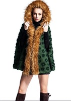 2014 winter new women relaxed atmosphere and warm wool cape coat ladies wool solid color flowers free shipping