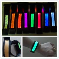 LED luminous hand ring wrist band optical fiber light hand with flash bracelet band