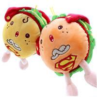 Hamburger doll Creative hamburger doll plush toys simulation