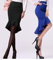 roupas femininas saias femininas Slim Fish Tail High Low Ruffled Hemline Midi flare skirt women LC71074 faldas