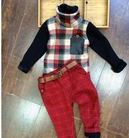 RQQ children with velvet leisure Tshirt + pants Christmas