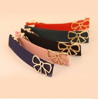 20PCS Hot fashion girls multicolor fabric bow hair clip hair ornaments word Wholesale