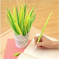 12pcs/lot Cute School Stationery Portable Fresh Grass Style Gel Pen School Office Supplies