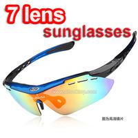 Free DHL/EMS 10pcs occhiali eyeglasses +7 lens sport sunglasses men sun glasses polarized oculos de sol masculino sungless gafas