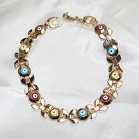 Aliexpress Wholesale Top Quality Brand Evil Eye Jewelry Women Jewellery Gold Bracelet Accessories