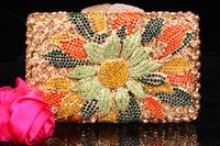 2014 Crystals Evening bag,Women Fashion Hard Case Metal Purses Party Handbags ,CB370-1